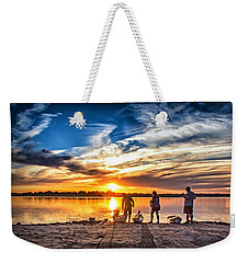Weekender Tote Bag featuring the photograph At Days End by Phil Mancuso