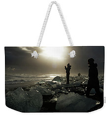 The Diamond Beach, Jokulsarlon, Iceland Weekender Tote Bag