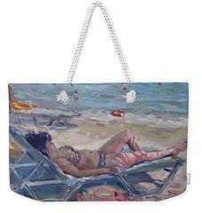 At Dilesi Beach Athens Weekender Tote Bag