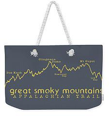 At Elevation Profile Gsm Mustard Weekender Tote Bag by Heather Applegate