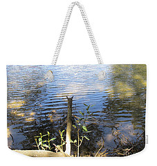 Weekender Tote Bag featuring the photograph At Mangroves Edge by Dianne  Connolly