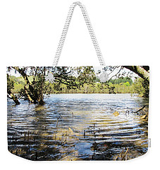 Weekender Tote Bag featuring the photograph At Muddy Shady Mangroves 2 by Dianne  Connolly