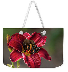 At One With The Orchid Weekender Tote Bag
