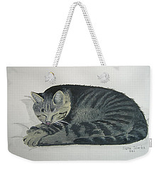 Weekender Tote Bag featuring the painting At Rest by Norm Starks