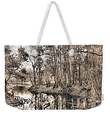 Weekender Tote Bag featuring the photograph At Swamps Edge by Kristin Elmquist