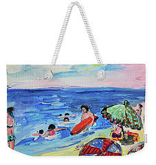 At The Beach Weekender Tote Bag by Amara Dacer