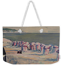 Weekender Tote Bag featuring the painting At The Beach by Nop Briex