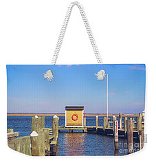 Weekender Tote Bag featuring the photograph At The Dock by Colleen Kammerer