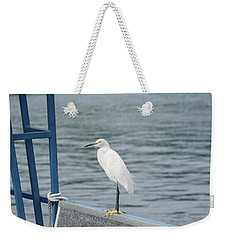 Weekender Tote Bag featuring the photograph At The Edge by Kim Hojnacki