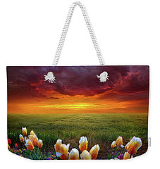 At The End Of Darkness Weekender Tote Bag