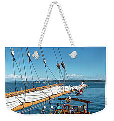 At The End Of The Boom Weekender Tote Bag