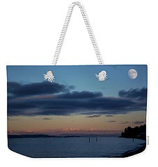 Weekender Tote Bag featuring the painting At The End Of The Day - Landscape Art by Jordan Blackstone