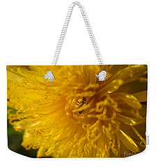 Weekender Tote Bag featuring the photograph At The Heart Of It by Christina Verdgeline
