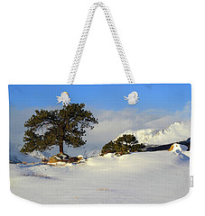 Weekender Tote Bag featuring the photograph At The Peak by Shane Bechler