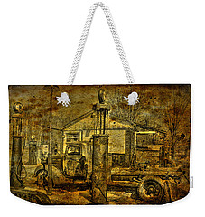 At The Pumps No.7009a1 Weekender Tote Bag