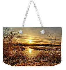 At The Rivers Edge Weekender Tote Bag by Bonfire Photography