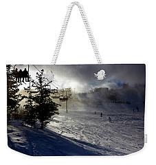 At The Ski Slope Weekender Tote Bag