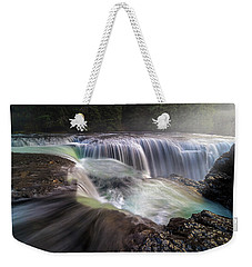 At The Top Of Lower Lewis River Falls Weekender Tote Bag