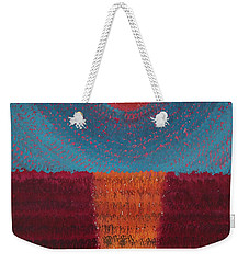 At World's Beginning Original Painting Weekender Tote Bag