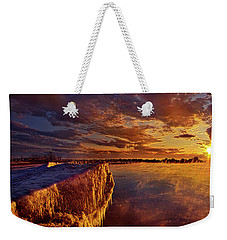 Weekender Tote Bag featuring the photograph At World's End by Phil Koch