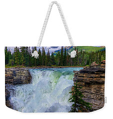 Athabasca Falls, Ab  Weekender Tote Bag by Heather Vopni