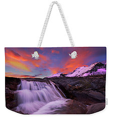 Weekender Tote Bag featuring the photograph Athabasca On Fire by Dan Jurak