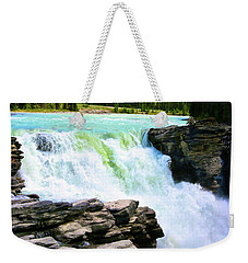 Weekender Tote Bag featuring the photograph Athabaska Falls by Polly Castor