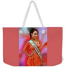 Athenna Crosby Miss California Teen Usa Weekender Tote Bag