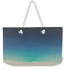 Athens Blue Ombre Sunset Weekender Tote Bag