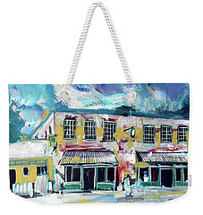 Weekender Tote Bag featuring the painting Athens Ga The Grit by John Jr Gholson