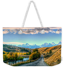 Atherton View Of Tetons Weekender Tote Bag