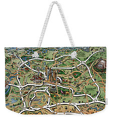 Atlanta Cartoon Map Weekender Tote Bag