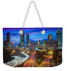 Atlanta Downtown By Night Weekender Tote Bag