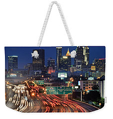 Atlanta Heavy Traffic Weekender Tote Bag by Frozen in Time Fine Art Photography