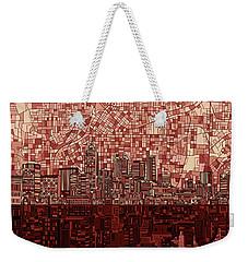 Atlanta Skyline Abstract Deep Red Weekender Tote Bag