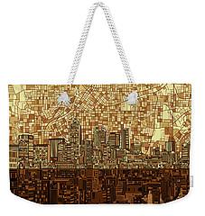Atlanta Skyline Abstract Orange Weekender Tote Bag
