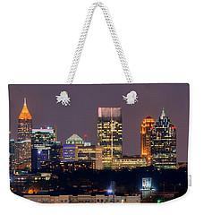 Atlanta Skyline At Night Downtown Midtown Color Panorama Weekender Tote Bag
