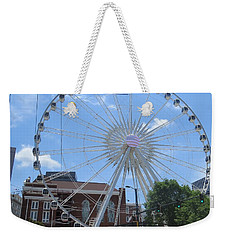 Weekender Tote Bag featuring the photograph Atlanta Wheel by Aaron Martens