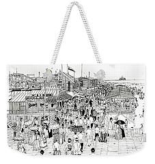 Atlantic City Boardwalk 1889 Weekender Tote Bag by Ira Shander