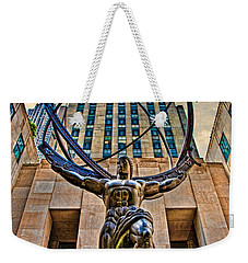 Atlas At The Rock Weekender Tote Bag