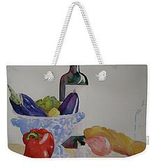 Weekender Tote Bag featuring the painting Atlas by Beverley Harper Tinsley
