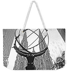 Atlas Rockefeller Center Nyc Weekender Tote Bag
