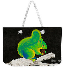 Atomic Squirrel Weekender Tote Bag by Stefanie Forck