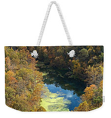 Weekender Tote Bag featuring the photograph Atop Ha Ha Tonka National Forest by Sara Raber
