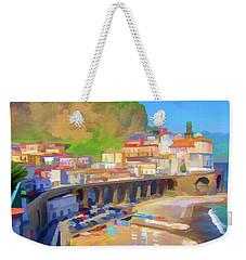 Atrani Italy 01 Weekender Tote Bag by Wally Hampton