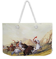 Attacking The Grizzly Bear 1844 Weekender Tote Bag