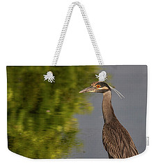 Weekender Tote Bag featuring the photograph Attentive Heron by Jean Noren