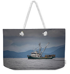 Weekender Tote Bag featuring the photograph Attu Off Madrona by Randy Hall