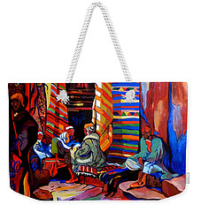 Weekender Tote Bag featuring the painting Au Bon Marche by Tom Roderick
