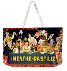 Au Tribunal De La Haye La Menthe Pastille Vintage Weekender Tote Bag by Carsten Reisinger